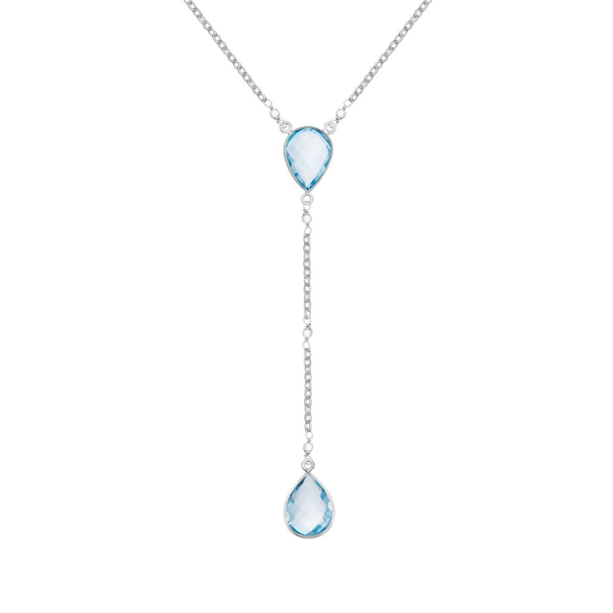 Shakara Jewellery, Droplet-collection-lariat-necklace-sky-blue-topaz.