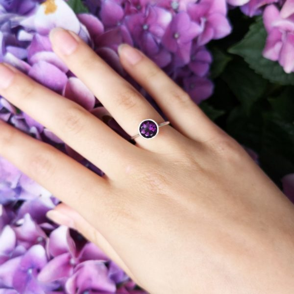 Purple Amethyst stacking ring.