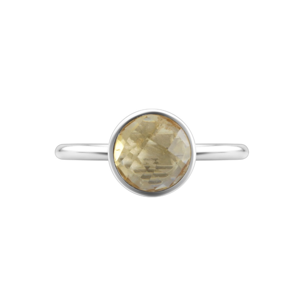 Shakara Jewellery, Bon Bon Round 8mm - Citrine stacking ring.