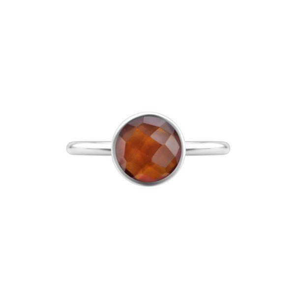 Shakara Jewellery Bon Bon collection round 8mm - Garnet stacking ring.