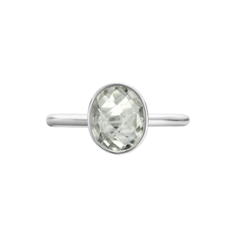 Shakara Jewellery Bonbon collection - oval Green Amethyst ring.