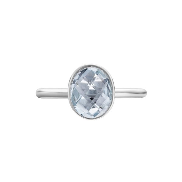 Shakara Jewellery Bonbon collection - oval Sky Blue Topaz ring.