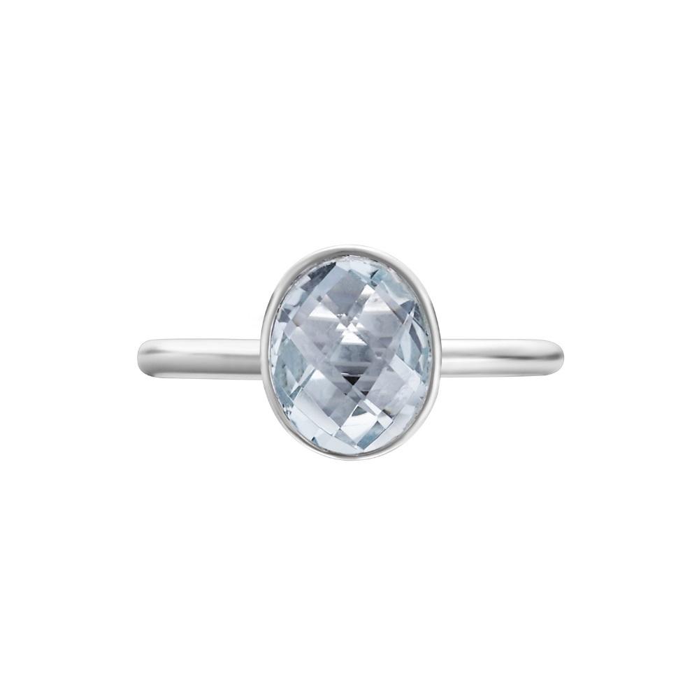 Shakara Jewellery Bonbon collection - oval Sky Blue Topaz ring.