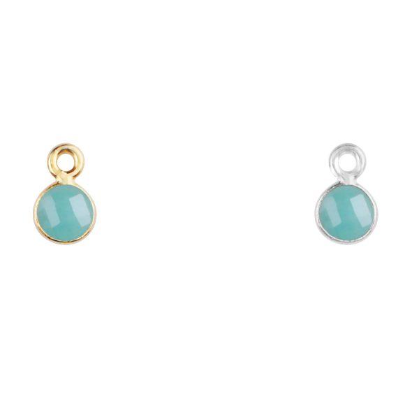 Emerald charm in gold - May birthsone