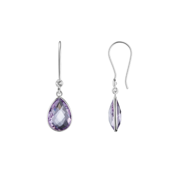 Shakara Jewellery. Droplet collection - duo drop Pink Amethyst