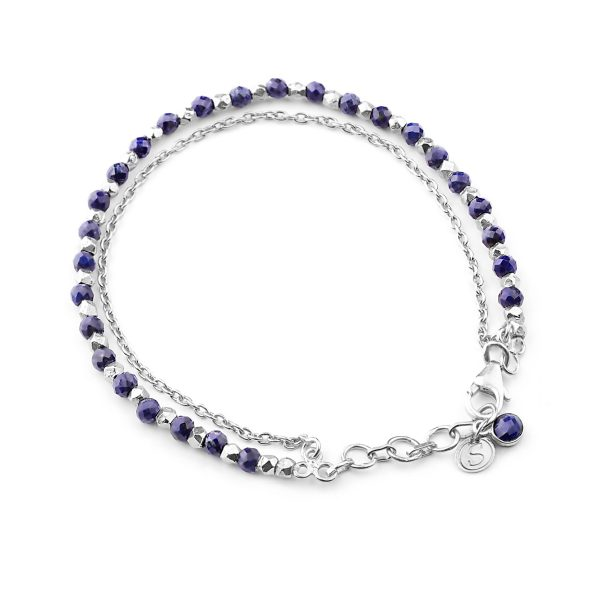 Lapis Lazuli beaded friendship bracelet.