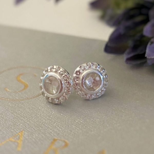 Celestial Collection White Topaz stud earrings